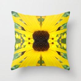 Trippy Sunflower Throw Pillow
