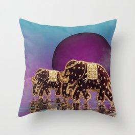 elephant fantasy -2- Throw Pillow