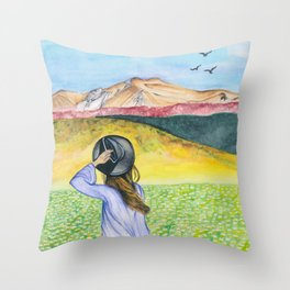 Flying Solo Throw Pillow