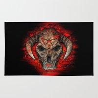 diablo Area & Throw Rugs featuring Diablo by Digital Dreams