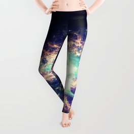 Galaxy Crab Nebula : Deep Pastels Leggings