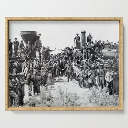 Driving the Golden Spike at Promontory Summit, Utah (May 10, 1869) Serving Tray
