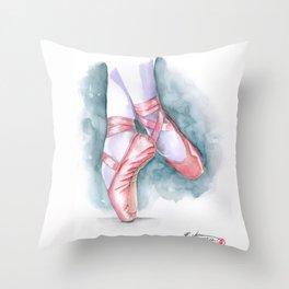 ballet sneaker Throw Pillow