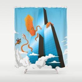 Squidzilla Shower Curtain