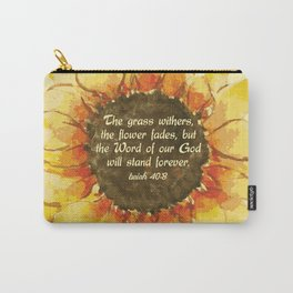 The Word of our God will stand forever Carry-All Pouch