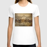 paris map T-shirts featuring Paris  by Bekim ART