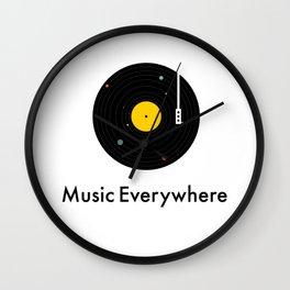 Music Everywhere Wall Clock