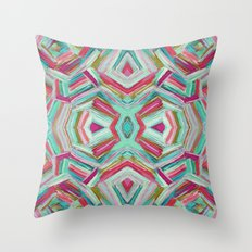 Turquoise Convex Adventures Pattern Throw Pillow