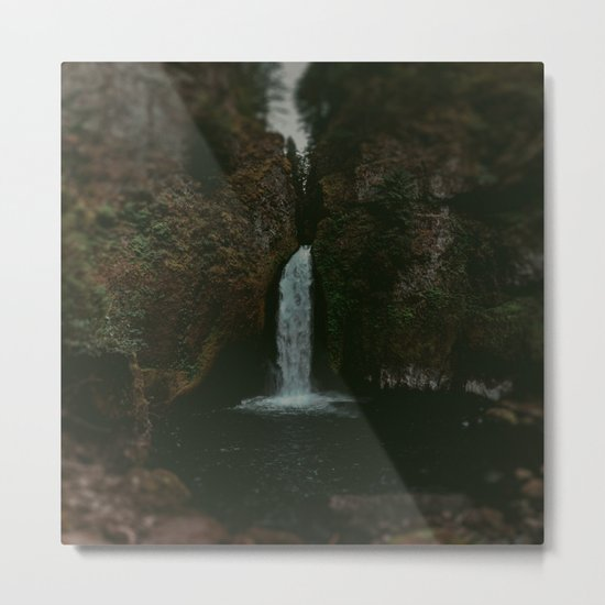Wahclella Falls x Oregon Waterfall Metal Print