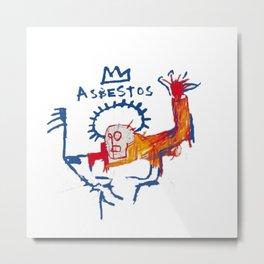 Basquiat Asbestos 2 Metal Print