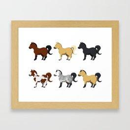 Little ponies Framed Art Print