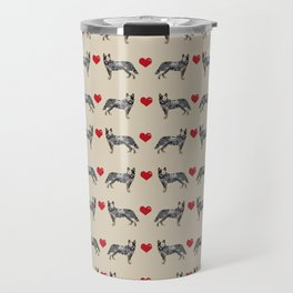 Australian Cattle Dog blue heeler hearts love dog breed gifts for cattle dog owners Travel Mug