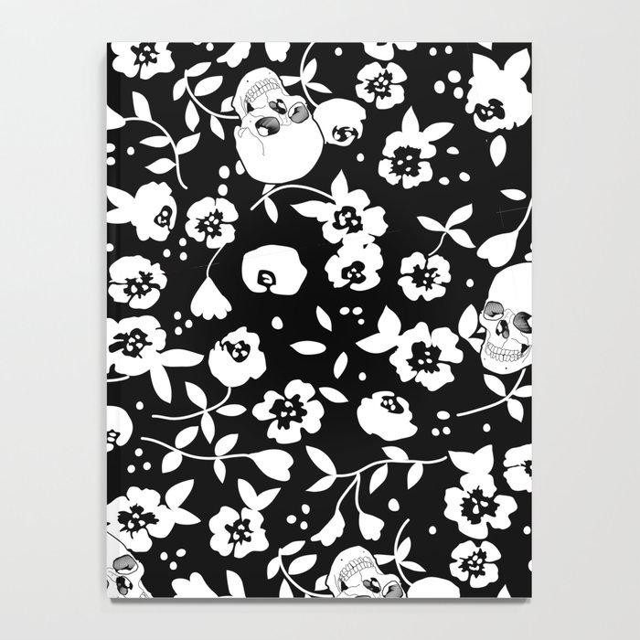 Skull Flowers Notebook