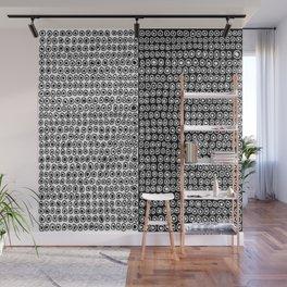 Black & White Circle Pattern Wall Mural