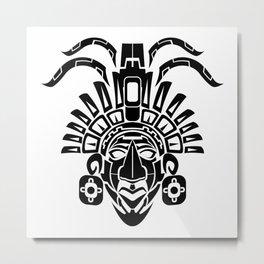 Mayan Mask Metal Print