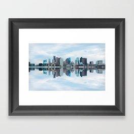 Boston reflection Framed Art Print