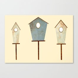 Birdy Birdhouse Canvas Print