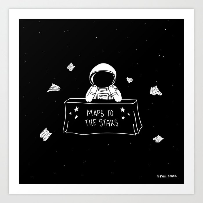 Selling Maps to the Stars Art Print