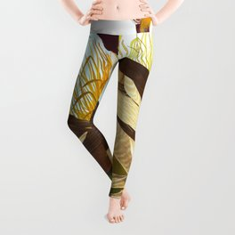 Bufflehead Duck Vintage Illustration Leggings