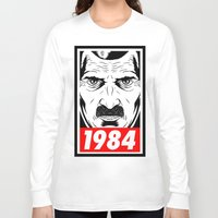 1984 Long Sleeve T-shirts featuring OBEY 1984 by MRCRMB