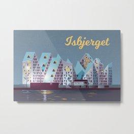 Isbjerget - The Iceberg Denmark Travel Poster Metal Print