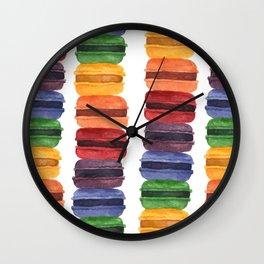 Rainbow Macaron Wall Clock