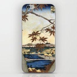 The maple leaves of Mama - Utagawa Hiroshige  iPhone Skin