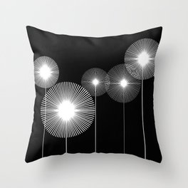 lines_and_dots Throw Pillow