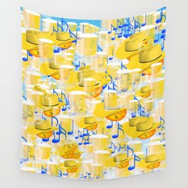 BEERS AND MUSIC EMOJIS Wall Tapestry