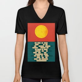 Sun Over The Sea - Afternoon Unisex V-Neck