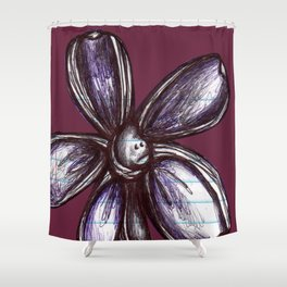 """Bound up by Bandages"" Flowerkid Shower Curtain"