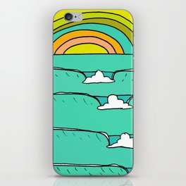 pineapple fields and endless summer vibes iPhone Skin