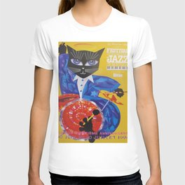 1994 Montreal Jazz Festival Cool Cat Poster No. 3 Gig Advertisement T-shirt