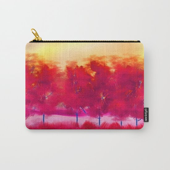 Sunset in Fall Abstract Landscape Carry-All Pouch