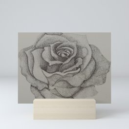 Stippling Rose Mini Art Print