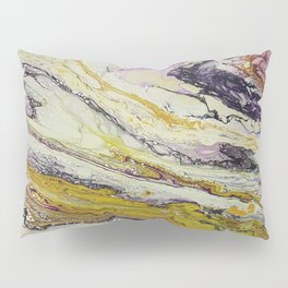 Planet of reptiles, abstract, acrylic on canvas Pillow Sham