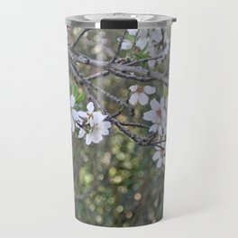 Almond tree branches and flowers Travel Mug