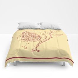 Golden Pomegranate Comforters