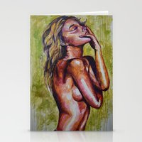 pain Stationery Cards featuring Pain by Artsy Kat
