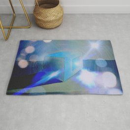 """""""The Magical Blue Square"""" Rug"""