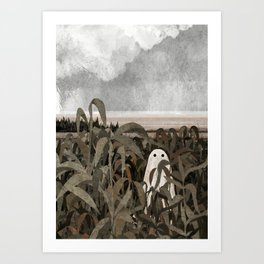 There's A Ghost in the Cornfield Again Art Print