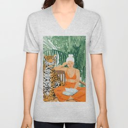 Jungle Vacay #painting #illustration Unisex V-Neck