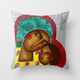 Folk Madonna1 Throw Pillow