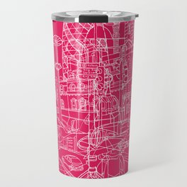 London! Hot Pink Travel Mug