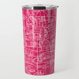 London! Hot Pink Travel Mug