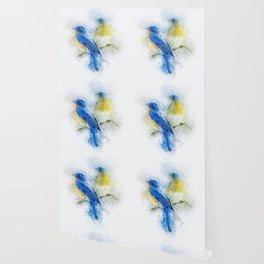 Kissing Birds Wallpaper
