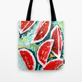 watermelon acrylic art Tote Bag