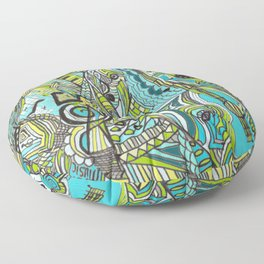 Musically Aqua Floor Pillow