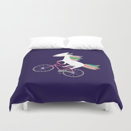 bike unicorn  Duvet Cover