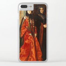 King Lear: Goneril and Regan, Act I, Scene I by Edwin Austin Abbey Clear iPhone Case